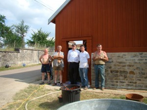 Travaux rénovation lavoir Ménetreux : la fin du chantier