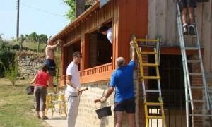 Travaux rénovation lavoir ménétreux : travaux extérieurs