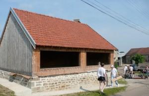 Travaux rénovation lavoir Ménetreux : préparation du chantier